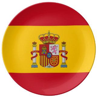 SPANIEN-Flaggen-Porzellan-Platte Teller Aus Porzellan