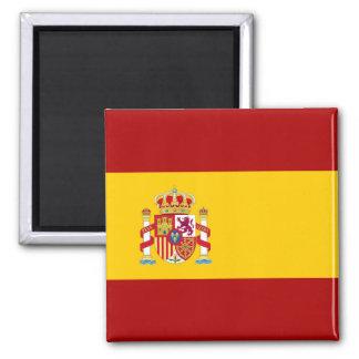 Spanien-Flaggenqualität Quadratischer Magnet