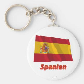 Spanien Fliegende Dienstflagge MIT Namen Standard Runder Schlüsselanhänger