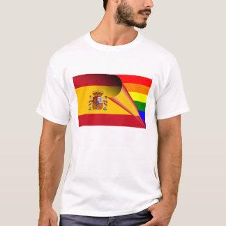 Spanien-Gay Pride-Regenbogen-Flagge T-Shirt
