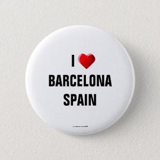 """Spanien: """"ICH LIEBE BARCELONA, SPANIEN"""" Runder Button 5,7 Cm"""