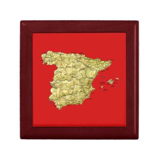 Spanien-Karten-Geschenkboxen Schmuckschachtel
