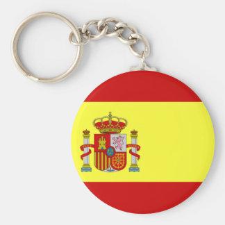 SPANIEN-Knopf keychain Standard Runder Schlüsselanhänger