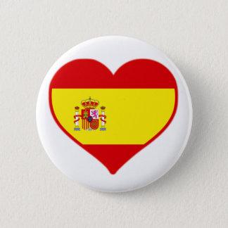 Spanien-Liebe Runder Button 5,7 Cm