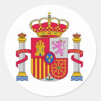 Spanien-Wappen Runder Aufkleber
