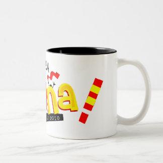Spanien zerteilt kaffeetasse