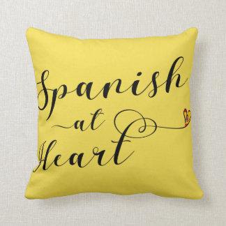 Spanisch am Herz-Wurfs-Kissen, Spanien Kissen