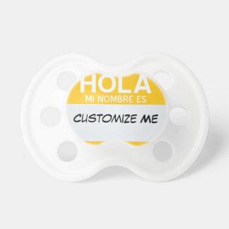 Spanisch hallo mein Name ist… kundengerecht Schnuller