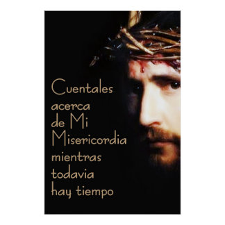 Spanisch Jesuss Divina Misericordia Espanol Plakat