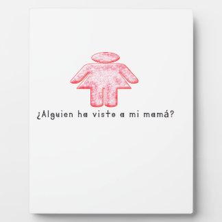 Spanisch-Momma Fotoplatte