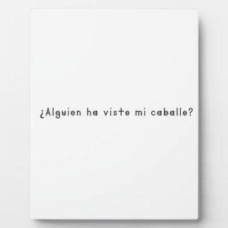 Spanisch-Pferd Fotoplatte