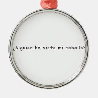 Spanisch-Pferd Silbernes Ornament
