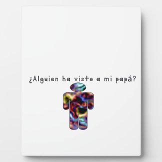 Spanisch-Vati Fotoplatte
