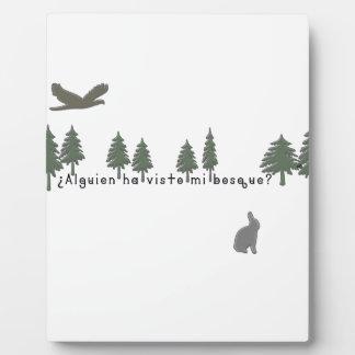 Spanisch-Wald Fotoplatte