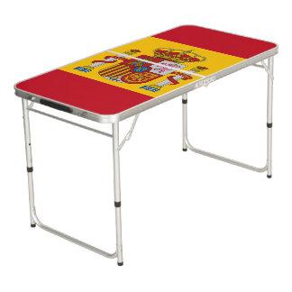 Spanische Flagge Beer Pong Tisch