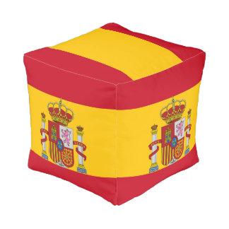 Spanische Flagge Kubus Sitzpuff