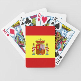 Spanische Flagge Rojigualda u. königliches Bicycle Spielkarten