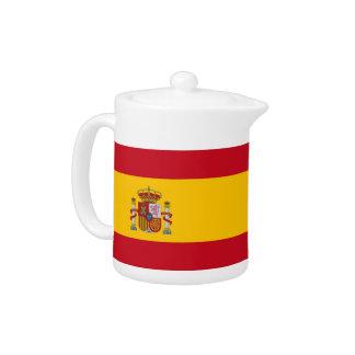 Spanische Flaggen-Teekanne