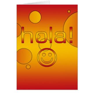 Spanische Geschenke: Hallo/Hola + Smiley Karte