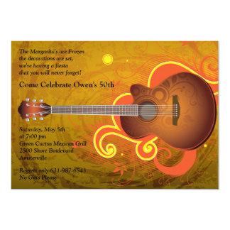 Spanische Gitarren-Einladung 12,7 X 17,8 Cm Einladungskarte