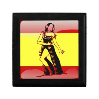 Spanische glatte Flagge Schmuckschachtel