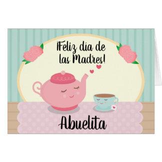 Spanische Karte der Mutter Tagesfür Großmutter