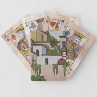 Spanische Kirche und Häuser Bicycle Spielkarten