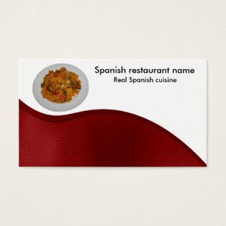 Spanische Küche Visitenkarte