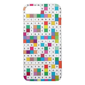 Spanische Monate des Kreuzworträtsel-iPhone7 kaum iPhone 8/7 Hülle