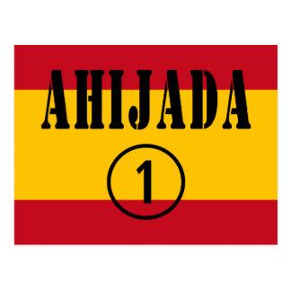 Spanische Patenttöchter: Ahijada Numero UNO Postkarte