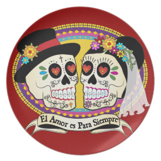 (Spanische) Platte Los Novios Teller