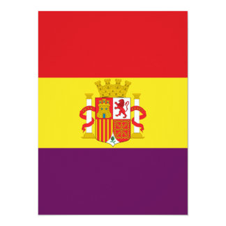 Spanische republikanische Flagge - Bandera Karte