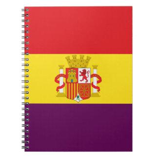 Spanische republikanische Flagge - Bandera Notizblock