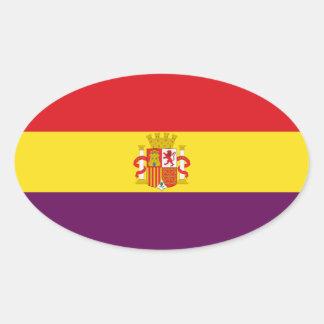 Spanische republikanische Flagge - Bandera Ovaler Aufkleber