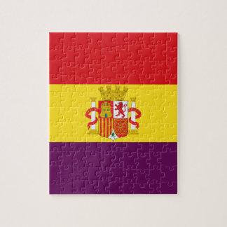 Spanische republikanische Flagge - Bandera Puzzle