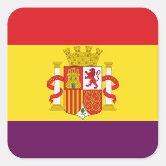 Spanische republikanische Flagge - Bandera Quadratischer Aufkleber