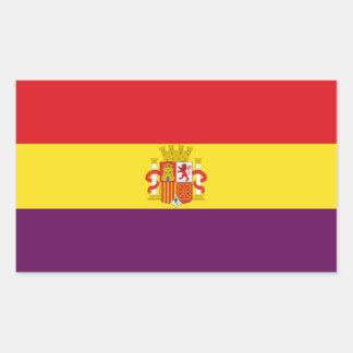 Spanische republikanische Flagge - Bandera Rechteckiger Aufkleber