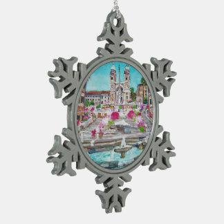 Spanische Schritte - Zinn-Schneeflocke-Verzierung Schneeflocken Zinn-Ornament