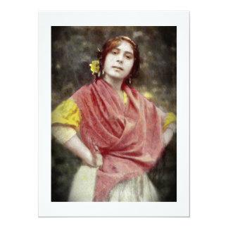 Spanische Sinti und Roma-Frau 14 X 19,5 Cm Einladungskarte