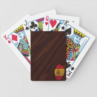 Spanische Touchfingerabdruckflagge Bicycle Spielkarten