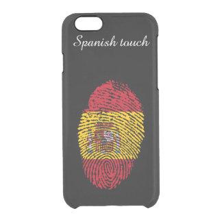Spanische Touchfingerabdruckflagge Durchsichtige iPhone 6/6S Hülle