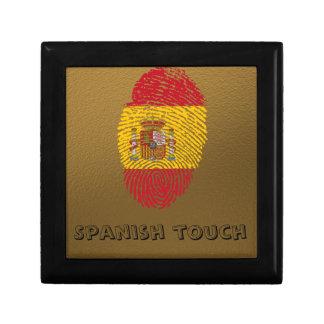 Spanische Touchfingerabdruckflagge Erinnerungskiste