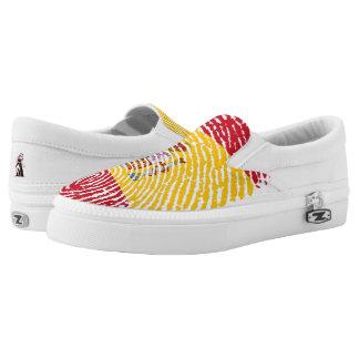 Spanische Touchfingerabdruckflagge Slip-On Sneaker