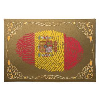 Spanische Touchfingerabdruckflagge Tischset