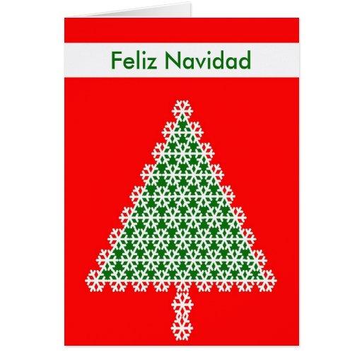 Spanische weihnachtskarte weihnachtsbaum karten zazzle - Weihnachtskarte spanisch ...