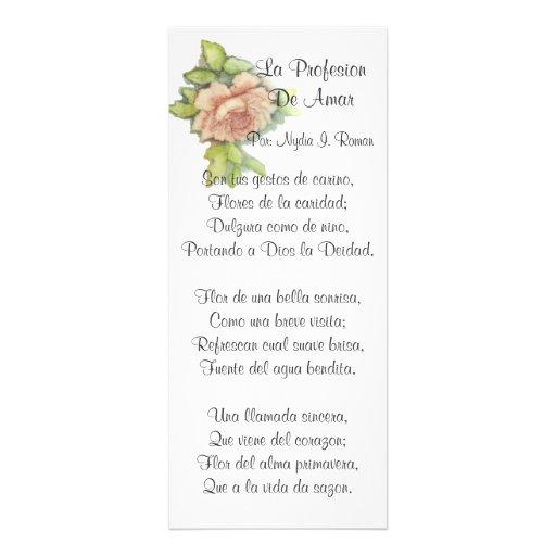 Spanischen St.-Valentinsgrußes Gedicht-Fertigen Ankündigungskarten