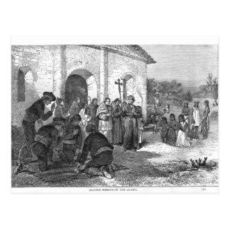 Spanischer Auftrag des Alamos Postkarte
