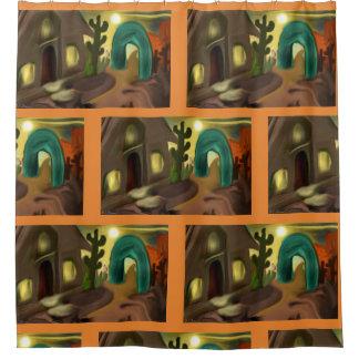 Spanischer Auftrag-südwestliche abstrakte Kunst Duschvorhang
