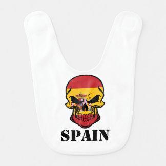Spanischer Flaggen-Schädel Spanien Babylätzchen