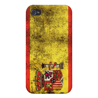 Spanischer Flaggen-Schmutz-Glühen-Apple iPad Fall iPhone 4 Cover